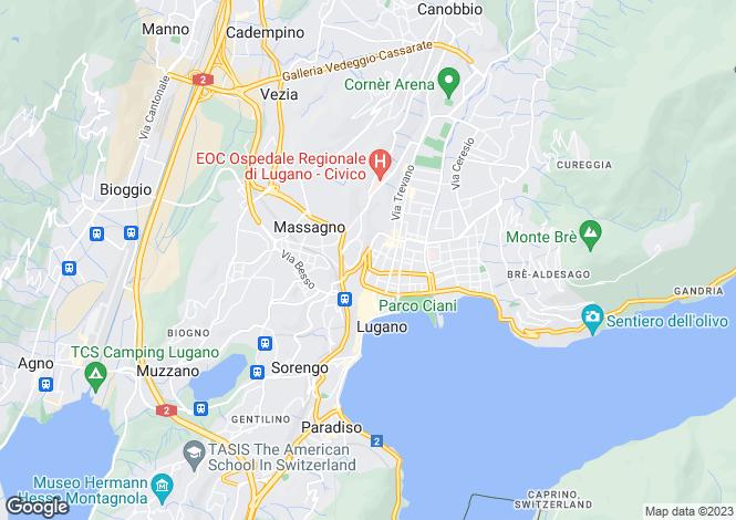 Map for Ticino, Lugano