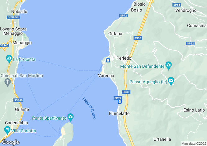 Map for Varenna, 23829, Italy