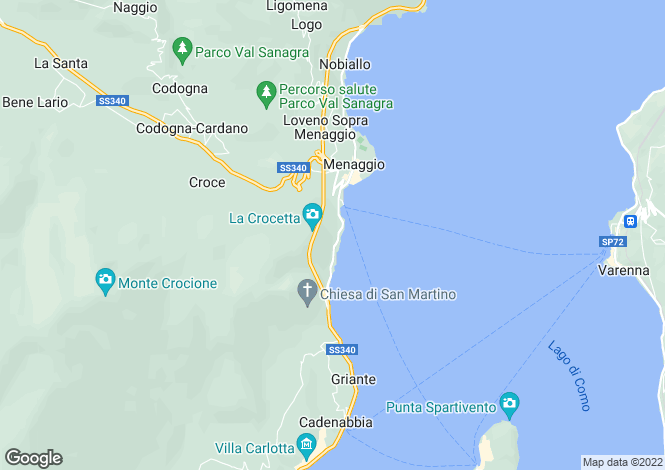Map for Menaggio, 22017, Italy