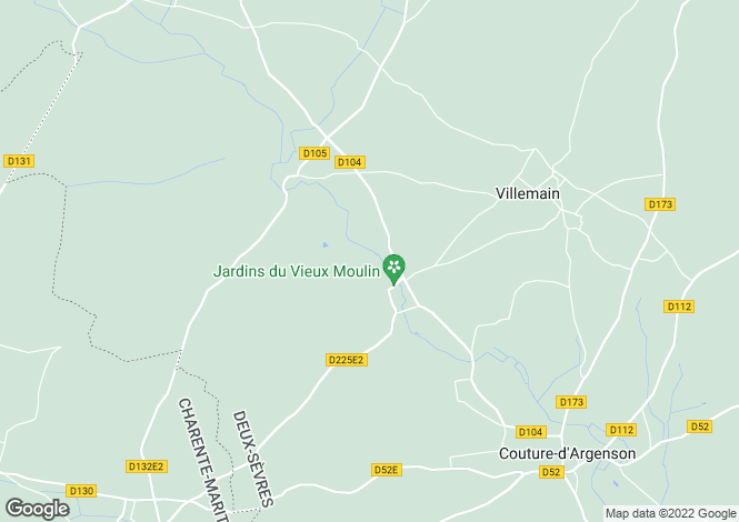 Map for Chef Boutonne, Poitou-Charentes, 79110, France