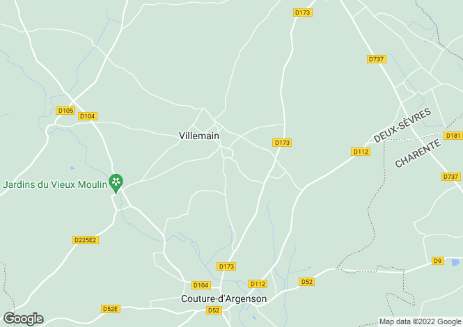 Map for 79110 VILLEMAIN, Deux-Sevres, France