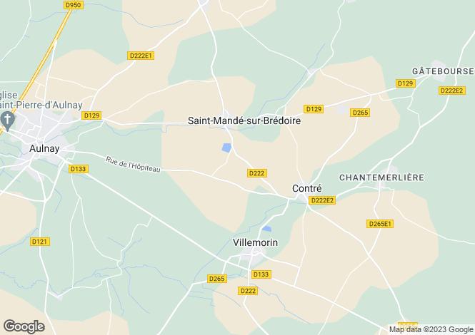 Map for st-mande-sur-bredoire, Charente-Maritime, France