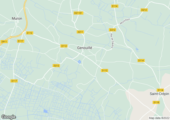 Map for genouille, Charente-Maritime, France