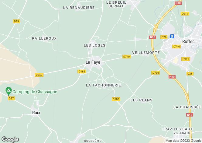 Map for La Faye, Charente, 16700, France