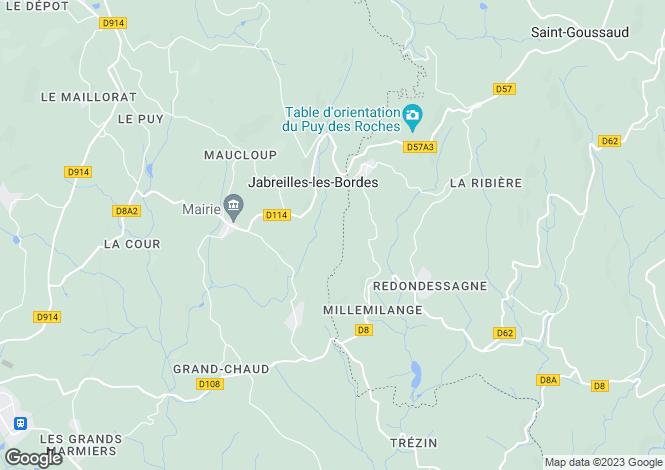 Map for Jabreilles-les-Bordes, Haute-Vienne, Limousin
