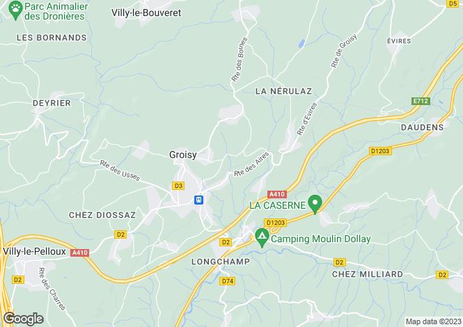 Map for Groisy,France