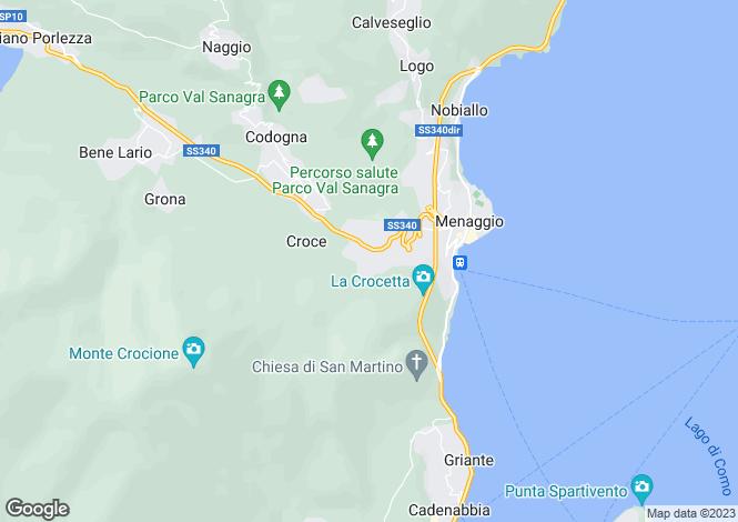 Map for Menaggio, Como, Italy