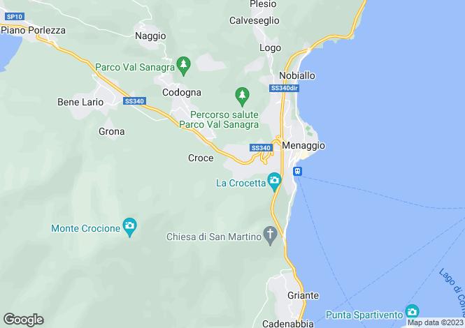 Map for Menaggio-Croce, Italy
