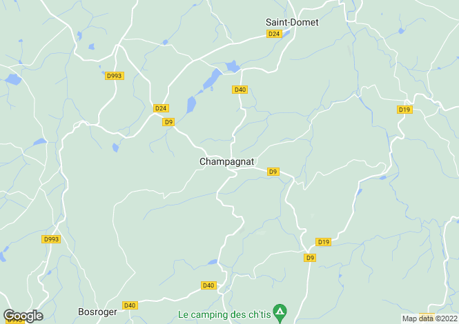 Map for Champagnat, Creuse, Limousin