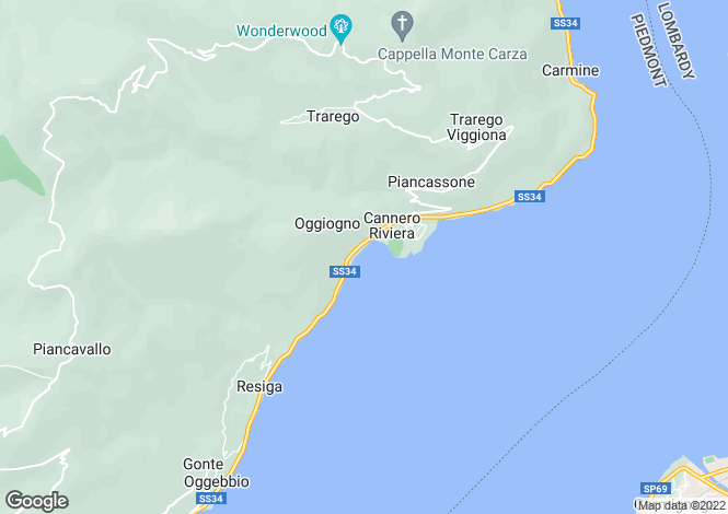 Map for Cannero Riviera, 28821, Italy