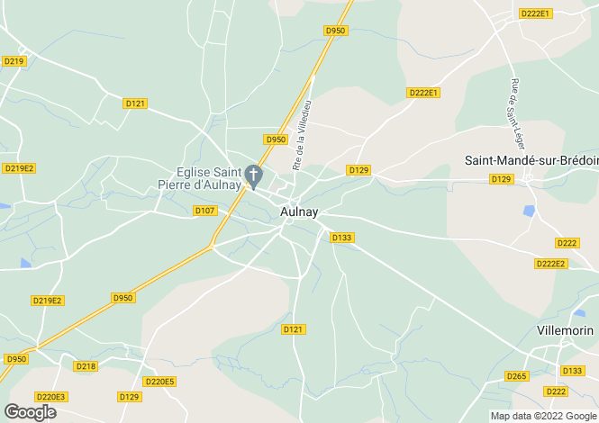 Map for Secteur: Aulnay, Charente Maritime