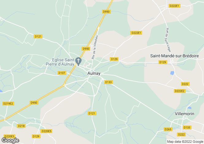 Map for aulnay, Charente-Maritime, France