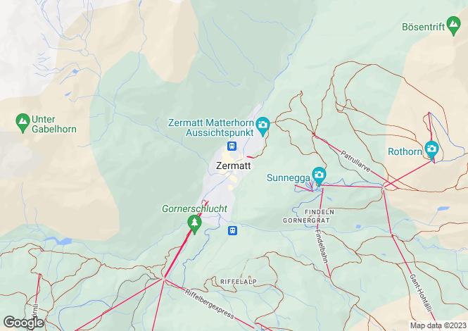 Map for Haus Nabucco, Zermatt