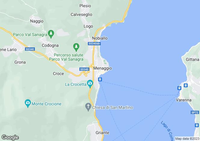Map for Menaggio, Como, Lombardy
