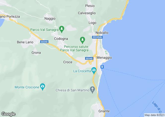 Map for Lombardy, Menaggio