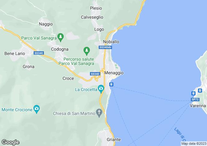 Map for Villa Sole Croce, Menaggio, Lake Como, Lombardy