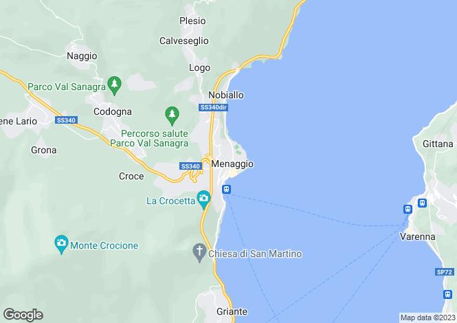 Map for Lombardy, Como, Menaggio
