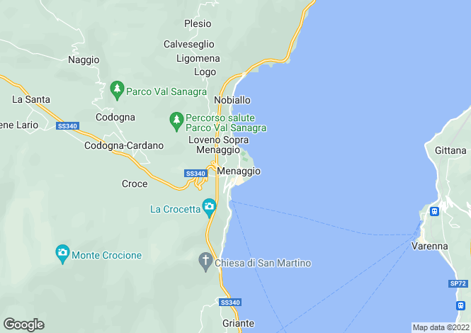 Map for Menaggio, Como, Lombardy