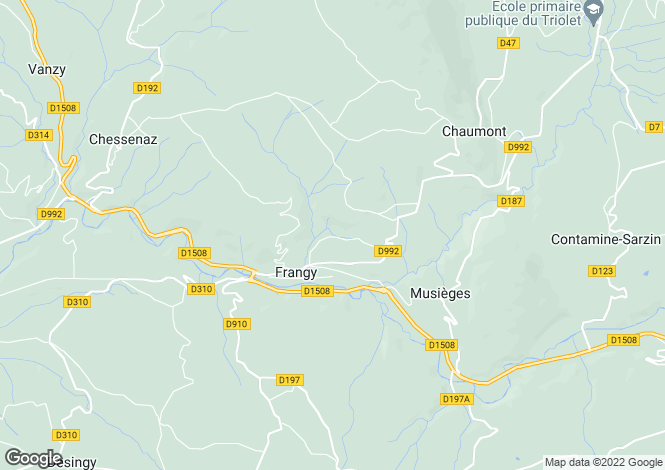 Map for Frangy,France