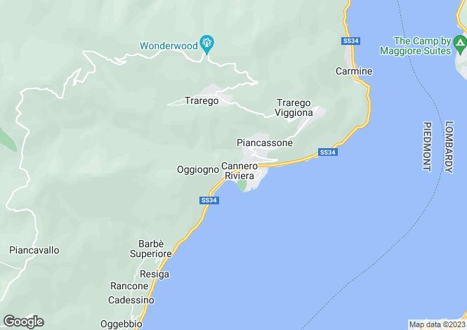 Map for Piedmont, Verbano-Cusio-Ossola, Cannero Riviera