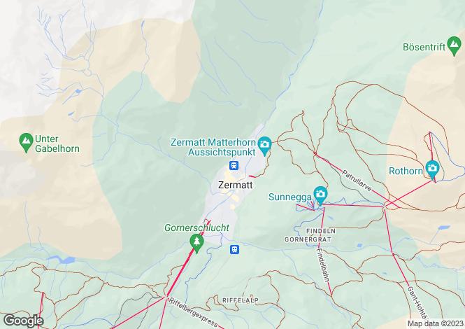 Map for Valais, Zermatt