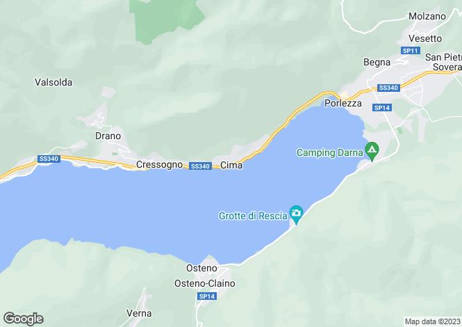 Map for Cima Di Porlezza, Como, Lombardy