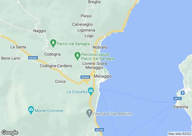 Map for Menaggio, Italy
