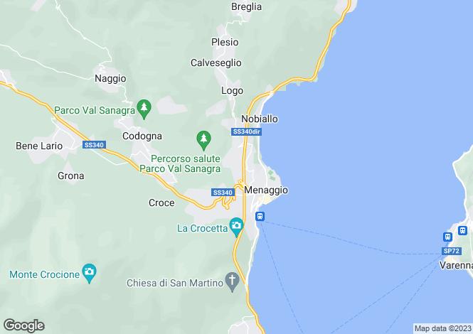 Map for Italy - Lombardy, Como, Menaggio
