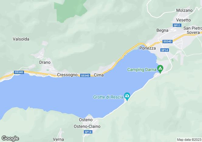 Map for Cima (Porlezza), 22018, Italy