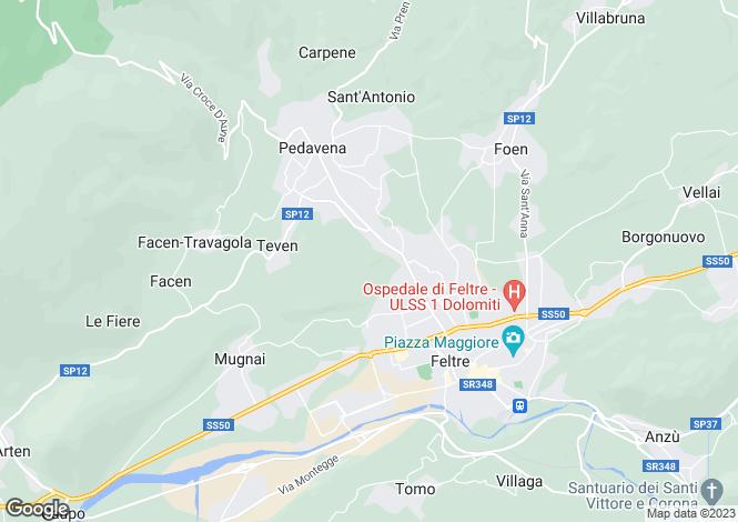 Map for Via Pederore, Feltre, Belluno, Veneto, Italy