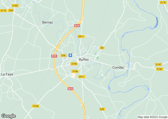 Map for Secteur: Ruffec, Charente