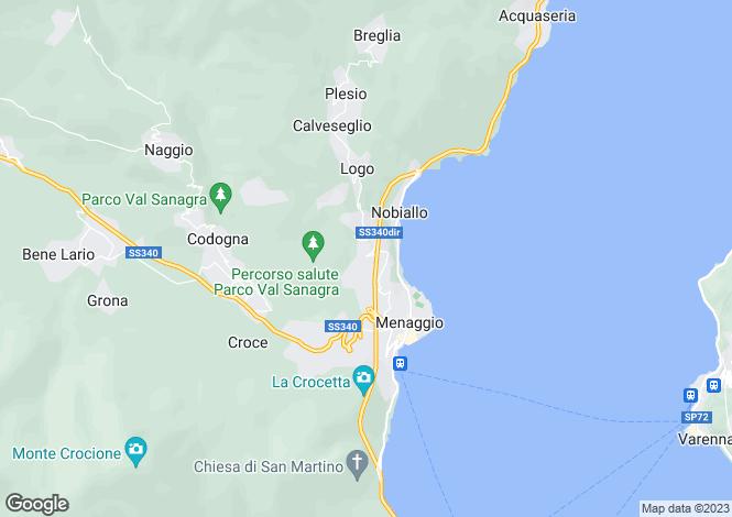 Map for Lombardy, Como, Loveno