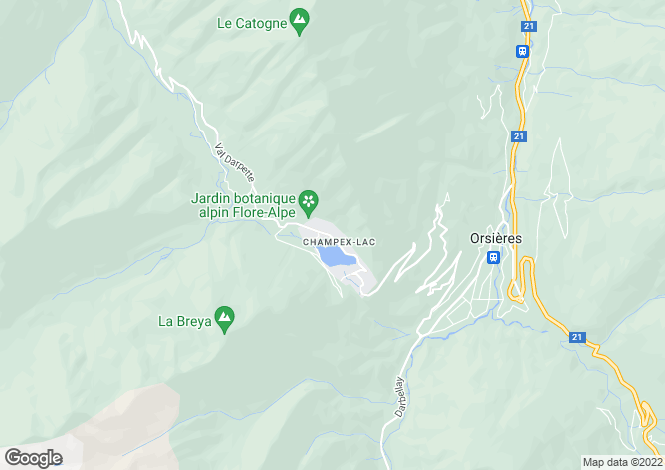 Map for Valais, Champex