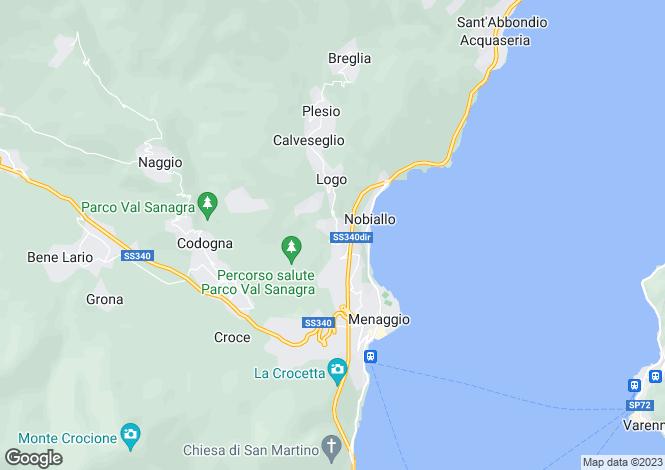 Map for Menaggio (Plesio), 22017, Italy