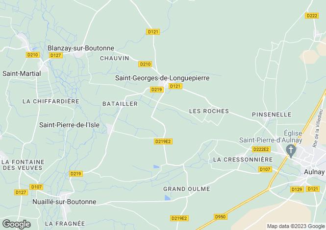 Map for 17470 SAINT-GEORGES-DE-LONGUEPIERRE, Charente-Maritime, France