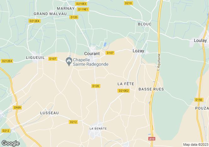 Map for Courant, Charente-Maritime, Poitou-Charentes
