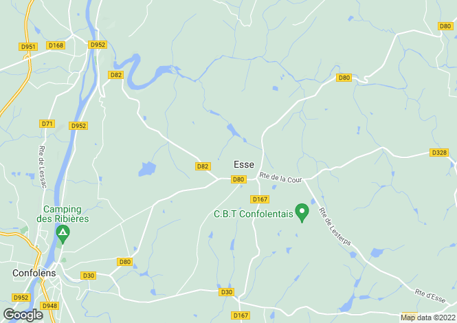 Map for esse, Charente, France