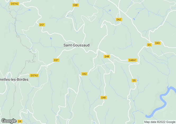 Map for Limousin, Creuse, St-Goussaud