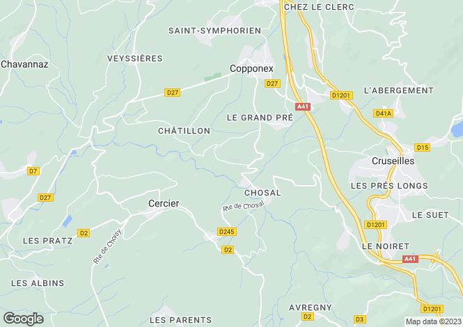 Map for Cercier, 74350, France