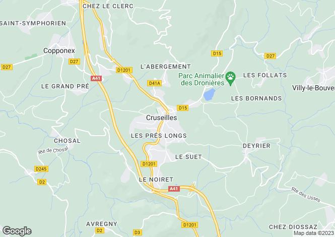 Map for cruseilles, Haute-Savoie, France