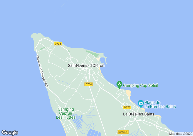 Map for saint-denis-d-oleron, Charente-Maritime, France