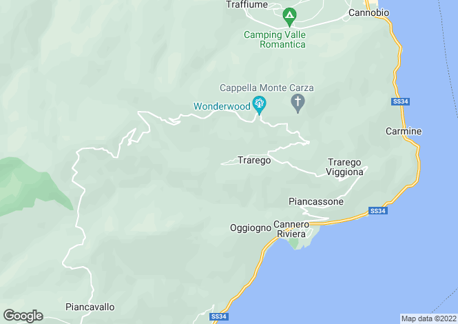 Map for Piedmont, Verbano-Cusio-Ossola, Trarego Viggiona