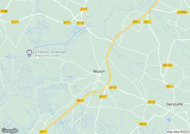 Map for muron, Charente-Maritime, France