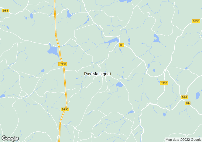 Map for puy-malsignat, Creuse, France