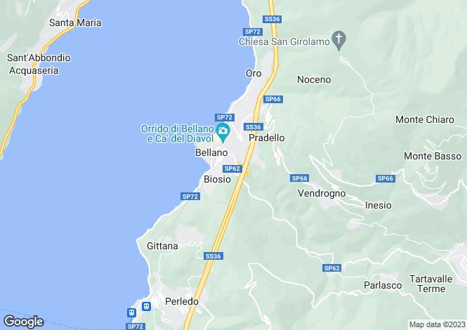 Map for Varenna (Bellano), 23829, Italy