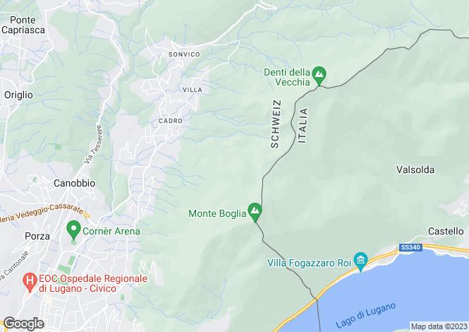 Map for Lugano, 6900, Switzerland