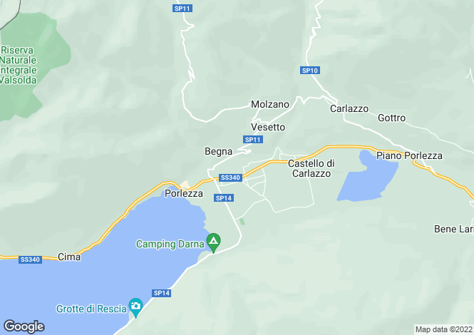 Map for Porlezza, 22018, Italy