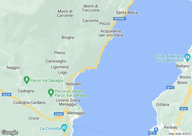 Map for Lombardy, Como, San Siro
