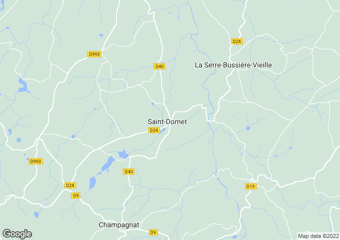 Map for St-Domet, Creuse, Limousin