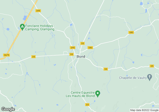 Map for , Haute-Vienne, France